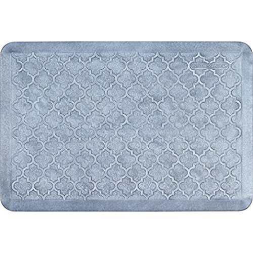 WellnessMats Estates Collection Coastal Series Sea Mist Trellis 3 x 2 Foot Anti-Fatigue Mat by WellnessMats