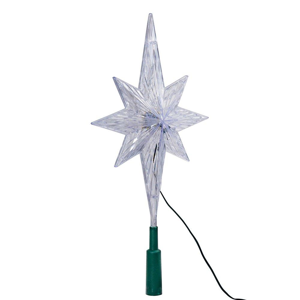 Amazon.com: Kurt Adler 11-1/4-Inch UL Polar Star Tree Topper with ...