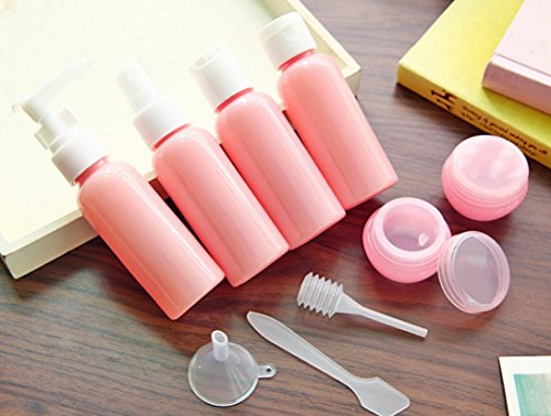 YIMAN® Travel Bottles Small bottles for makeup Cosmetic Toiletries Liquid Containers Leak Proof Portable Travel Plastic bottles