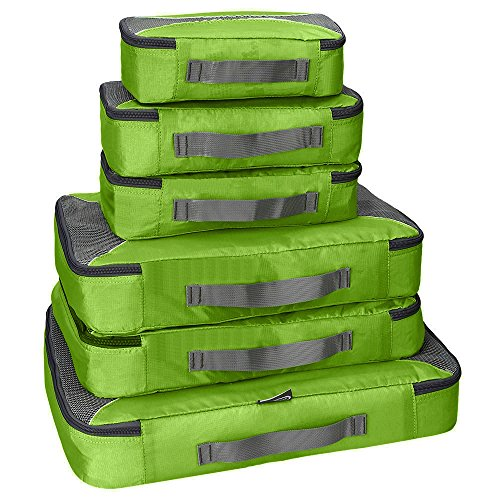 G4Free Packing Cubes 6pcs Set Travel Accessories Organizers Versatile Travel Packing Bags(Green) -