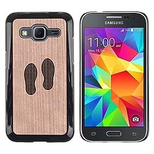 - / Feet Footprint Minimalist Cute Baby - - Funda Delgada Cubierta Case Cover de Madera / FOR Samsung Galaxy G360 G3608 G3606 / Jordan Colourful Shop/