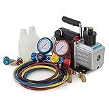 digital ac gauges r22 r134 r410a - ARKSEN 5CFM 1/2HP Rotary Vacuum Pump 1/3HP w/ AC Manifold Gauge Set R410 R22 R134 R407C