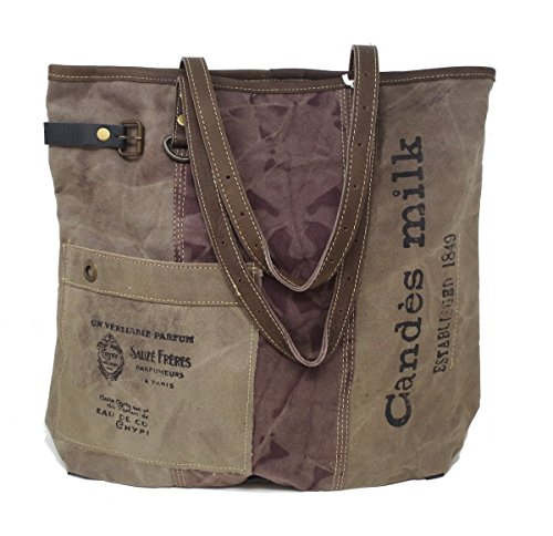 Chloe & Lex Vintage Upcycled Canvas Candes Tote