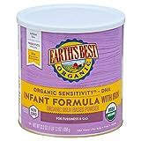 Earth's Best Organic Low Lactose Sensitivity Infant Formula with Iron, Omega-3 DHA & Omega-6 ARA, 23.2 Ounce