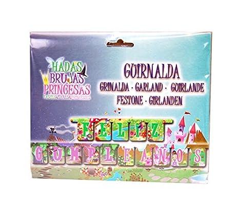 Verbetena - Guirnalda feliz cumpleaños Hadas, brujas y ...