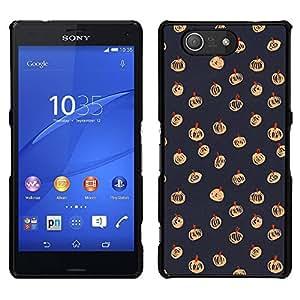 [Neutron-Star] Snap-on Series Teléfono Carcasa Funda Case Caso para Sony Xperia Z4v / Sony Xperia Z4 / E6508 [Halloween de la caída del otoño Patrón Gris]