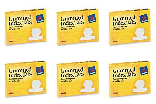 Avery Gummed Index Tabs, 50 Tabs (59102), 6 Packs