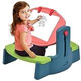 Costzon Kids Art Table Chair Set, 2 in 1 Height Adjustable Creativity Desk Easel