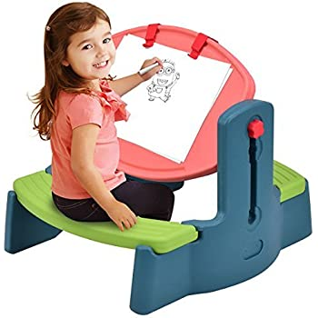 Amazon Com Step2 Flip And Doodle Desk With Stool Easel