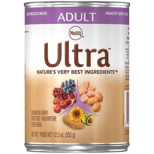 Nutro ULTRA Adult Chunks in Gravy Canned Dog Food, 12.5 oz.