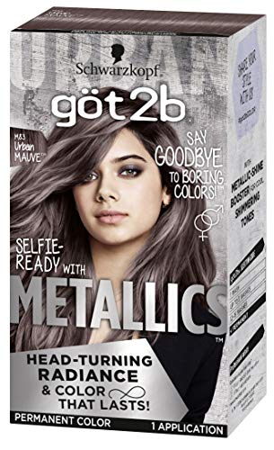 Got2b Metallics Permanent Head-Turning Radiance Hair Color, M83 Urban Mauve