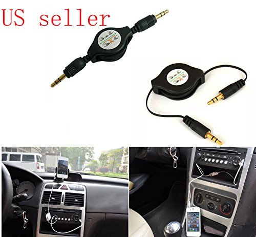 FYL 3.5mm Car Aux Cable for iPod Nano 2 3 4 5 4G 5G iPhone 4 4S 5 5C 5S
