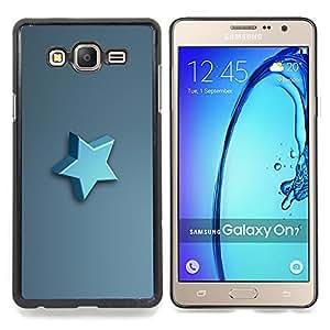 """Qstar Arte & diseño plástico duro Fundas Cover Cubre Hard Case Cover para Samsung Galaxy On7 O7 (Estrella azul"""")"""