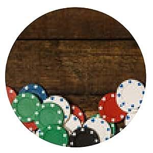 alfombrilla de ratón fichas de póquer - ronda - 20cm