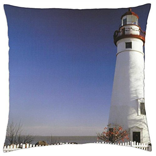 Marblehead Lighthouse, Ohio - Throw Pillow Cover Case ()
