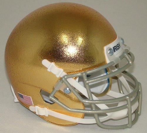 Schutt NCAA Notre Dame Fighting Irish Mini Authentic XP Football Helmet, Alt. 5, (Schutt Ncaa Genuine Football Helmet)