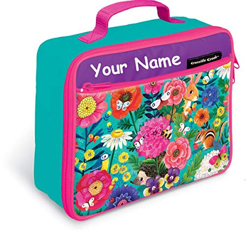 - Personalized Crocodile Creek Kids Secret Garden Lunchbox Lunch Bag Tote