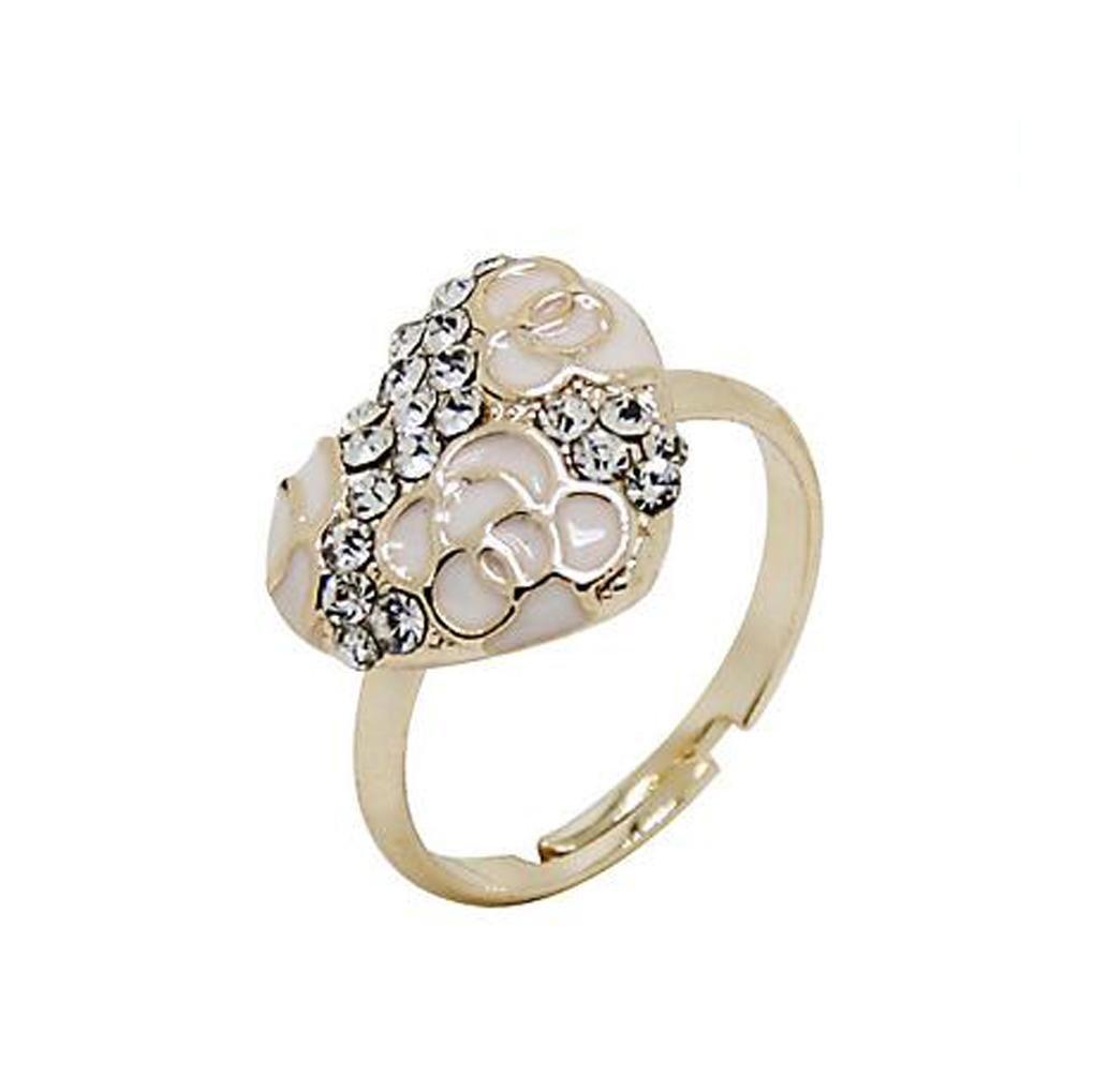 GYJUN Apertura di anello di diamanti Retro europei e americani zircone goccia