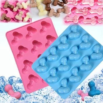Pene Silicona mold-nacola Pene de silicona cubo de hielo bandeja molde Chocolate Candy Jello Mold para despedida de soltera fiesta: Amazon.es: Hogar