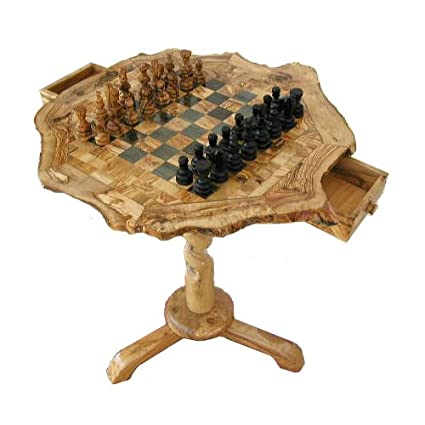 WOODEN CHESS BOARD COFFEE TABLE+PIECES SET WITH FREE SMALL CHESS BOARD U0026  WOODEN PIECES: Amazon.co.uk: Kitchen U0026 Home