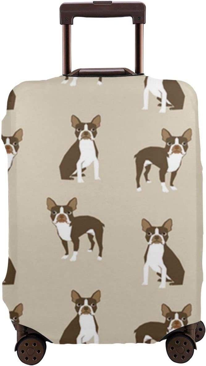 Boston Terrier Dog Universal Fashion Luggage Suitcase Cover Protector