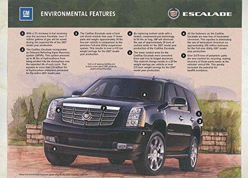2005 Cadillac Escalade Environmental Arlington Texas Factory Brochu 2005 Escalade Collectible