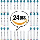 Oral-B Compatible Toothbrush Replacement Heads Braun Professional Care, Professional Care, SmartSeries, TriZone, Advance Power, Pro Health, Triumph, 3D Excel (24-Count)