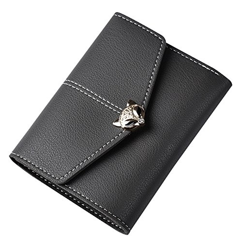 Bag Solid Coin Grey Women Bringbring Hasp Fox Fashion Wallet Multi Card Dark Position fpFqO4