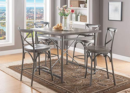 Acme Furniture Industry, INC Counter Height Chair in Gray Oak and Sandy Gray - Set of 2