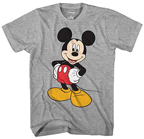 Mickey Mouse Disney Funny Graphic Tee Classic Vintage Disneyland World Mens Adult T-Shirt Apparel (Medium, Heather Grey) - Vintage Mickey Mouse T-shirt