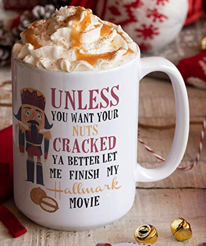 Christmas Coffee Mug 15 Ounce Hallmark Watching Nutcracker Holiday Gift for Mom