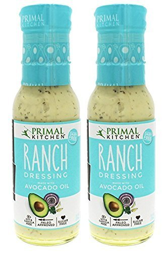 Primal Kitchen - Organic Ranch Dressing, Avocado Oil-Based, Vegan & Paleo Approved - (8 Oz X 2 Pack)