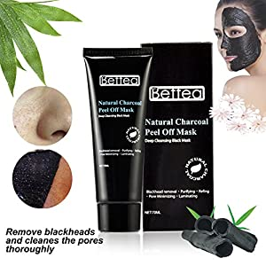 Black Mask Natural Charcoal Peel Off Mask Deep Cleaning Facial Mask Purifying Peel Off Mask