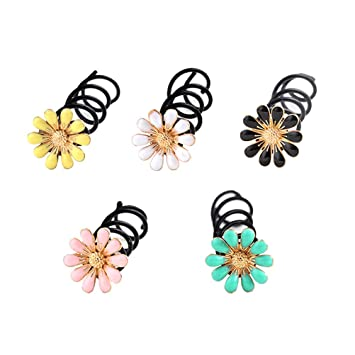 Exquisite Rhinestone Flower Hair Pins Twist Hair Clip Barrette Hair Accessories