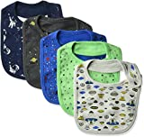 Rosie Pope Baby Boys Bibs 5 Pack, Space Theme, One