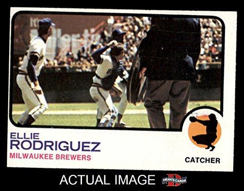 1973 Topps # 45 Ellie Rodriguez Milwaukee Brewers (Baseball Card) Dean's Cards 5 - EX Brewers Ellie Rodriguez Brewers