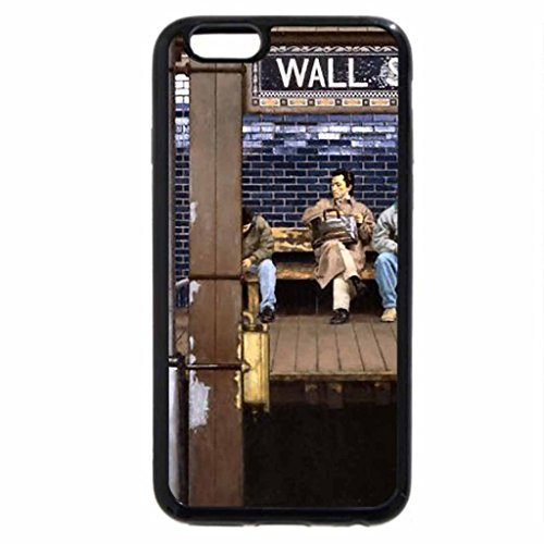 iPhone 6S / iPhone 6 Case (Black) Wall Street Subway Platform