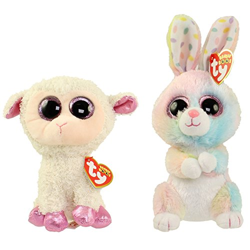 (2017 Set Of 2 EASTER Twinkle Lamb and Bubby Bunny 6