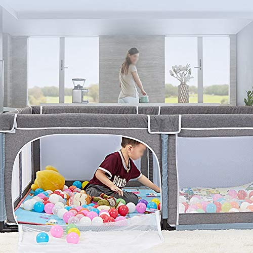 Infant Toddler Fence Household Shatter-Resistant Toys House Baby Game Playpen Children's Safety Fence Crawling Bar with Mat, Height 70cm, Size Optional (Size : 150×190cm) by Child safety gate (Image #4)