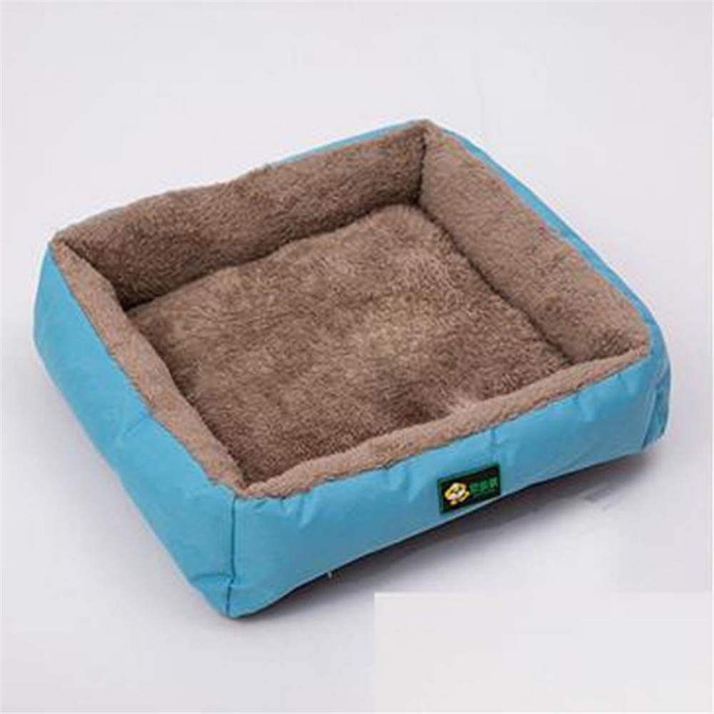 M Wuwenw Selling  Soft Plush Dog Bed Promotion Oxford Cat Puppies Kennel Sofa Cushion House Warm Pet Nest Pad Puppy bluee,M