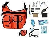 Treasure Hunters Large 17 Blaze Orange Sling Pack & Metal Detecting 22 Pc Accessory Kit