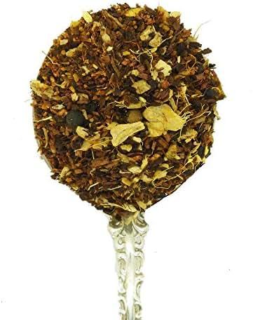 Whistling Kettle Tea - Loose Leaf Tea - 4 Ounces (Organic Honeybush Turmeric) - Rooibos - Cinnamon - Ginger