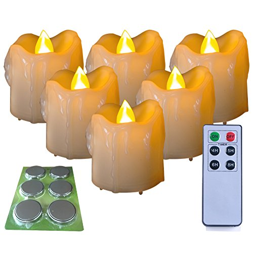 Homemory 6PCS LED Votive Candles with 12 x Batteries and Remote Control, 1.5
