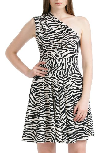 Zebra Print Long Dresses - 2
