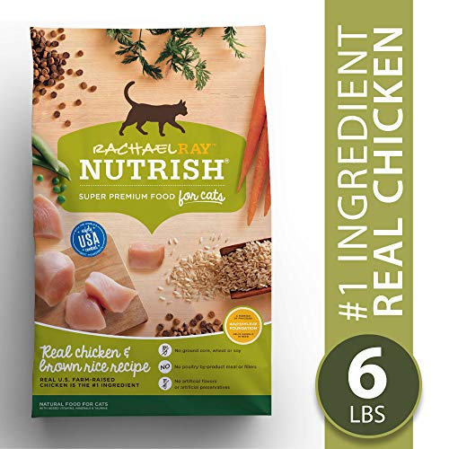 Rachael Ray Nutrish Premium Natural Dry Cat Food, Real Chicken & Brown Rice Recipe, 6 Lbs