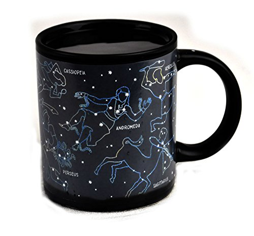 The Unemployed Philosophers Guild Heat Changing Constellation Mug – Add Coffee or Tea and 11 Constellations Appear…