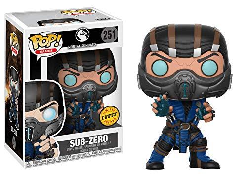 Funko Pop! Juegos Mortal Kombat - Sub-Zero Chase Edicion Limitada Figura de Vinilo (Se Incluye con Pop Caja DE PROTECCION DE Ca