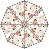 Pink Flower Blossom Floral Pattern Custom Foldable Rain Umbrella