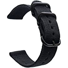 For Garmin Fenix 5 Watch Band, ViCRiOR 22mmPremium Woven Nylon Bands Adjustable Replacement Sport Strap with Metal Buckle for Garmin Fenix 5/Forerunner 935 GPS/Approach S60 Smart Watch Smart Watch