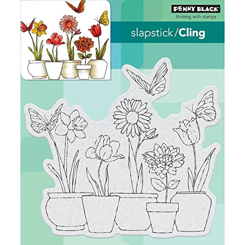 - Penny Black Potted Flowers Cling Unmounted Rubber Stamp (40-518)